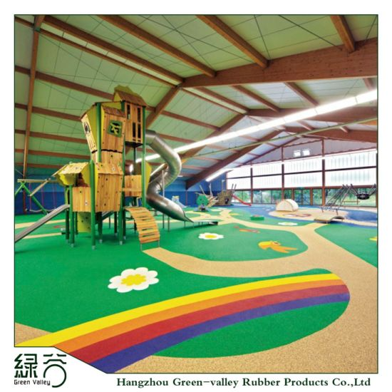 Shock Resistant, Sound Insulating, Wear Resistant 100% Recyclable Playground Wet-Pour Rubber Floor