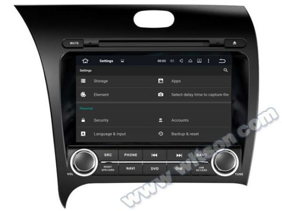 Witson Android 5.1 Car DVD GPS for KIA Cerato pictures & photos