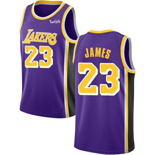 cheaper 3280d 746d8 Custom Customized Lakers Jerseys 23 Lebron James Basketball Jerseys