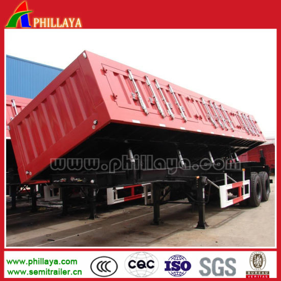 Side Hydraulic Lifting Cargo Dump Trailer pictures & photos