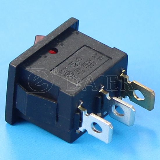 Mini 6A 250VAC Lighted Rocker Switch pictures & photos