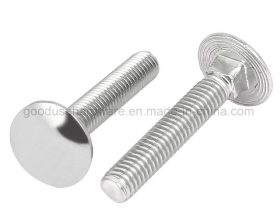 Neck Bolt Round Head Square Neck Carriage Bolts Stainless Steel M6x35mm 5 Pieces