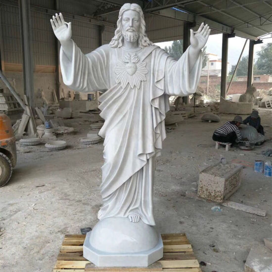 Life Size Stone Figure Statue White Marble Sculpture Religious Jesus pictures & photos