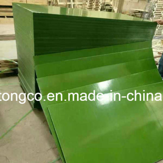 18mm Poplar Core Green PP Plastic Film Faced Construction Plywood for Building Material