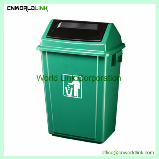 Dome Top 3 Container Recycling Trash Bin