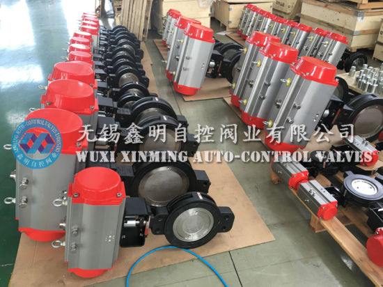 High Performance Wafer Butterfly Valve with Pneumatic Actuator pictures & photos