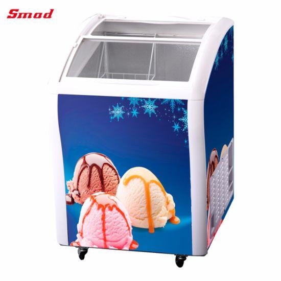 China Top Loading Sliding Glass Door Display Chest Freezer China