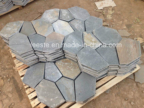 Hot Yellow Natural Slate Stone for Engineering and Wall Decoration pictures & photos