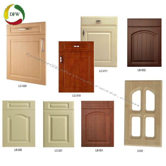 China Pvc Film Kitchen Cabinet Parts Shaker Cupboard Door China