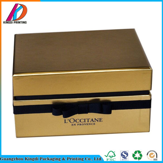 Design Templates Luxury Gold Card Paper Perfume Packaging Box