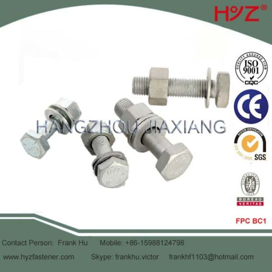 China Alloy Steel Hot DIP Galvanized Bolt ASTM A325 Steel