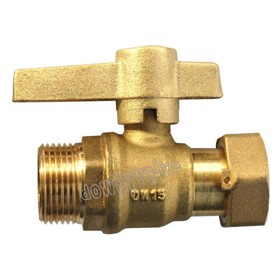 High Quality Female Brass Straight Type Water Meter Valve pictures & photos