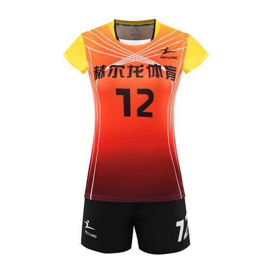 Healong Popular Design Sport Wear Sublimation Volleyball Uniforms pictures & photos