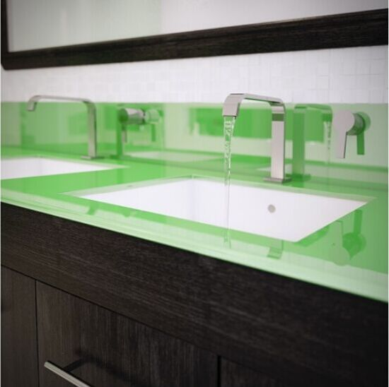 Tempered Glass Kitchen Countertops With AS/NZS2208: 1996, BS6206, En12150  Certificate
