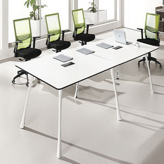 Modern White Stainless Steel Conference Table For Office Furniture Hy H12