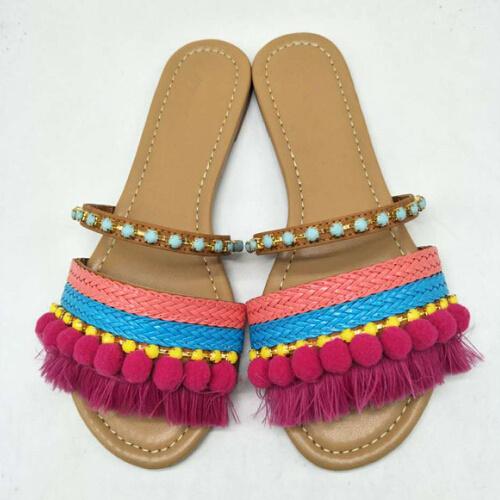 Fashion Design Summer Style Ladies Flat Sandals Bohemian Sandals Shoes Women