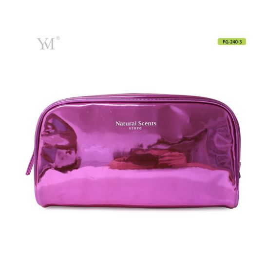 China Whole Patent Glossy Lady S Beauty Cosmetic Bag With Blue Gold Red 3 Colors