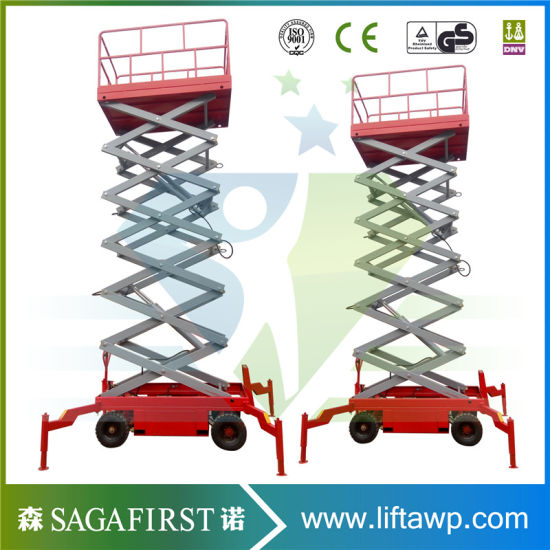 Aerial Work Hydraulic Self Propelled Electric Scissor Man Lift pictures & photos