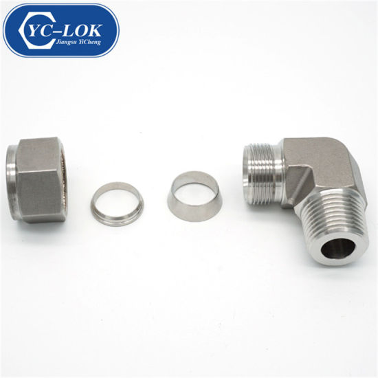 Ss 90 Elbow Male BSPT Thread Hydraulic Tube Fittings with IATF16949
