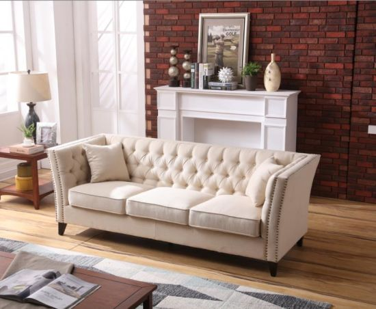 European Style Linen Fabric Sofa