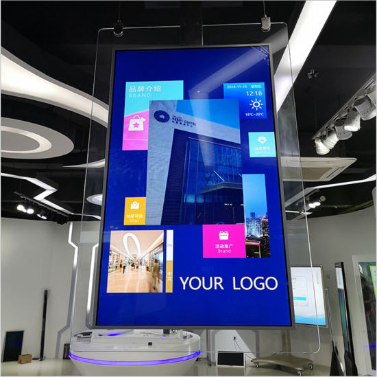 43 Inch Hanging Double-Sided LCD Monitor, Shop Window Digital Signage, Exhibition Display Stand, Electronic Photo Frame