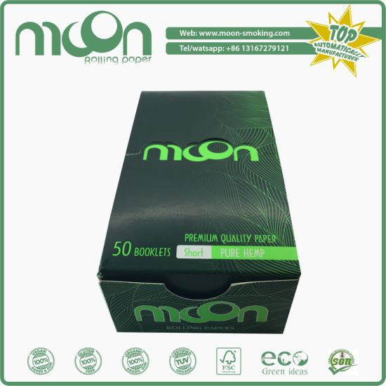 OEM 13 GSM 100% Pure Hemp Slowing Burning Cigarette Rolling Paper
