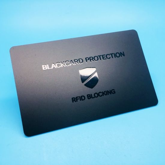 Anti-hacking RFID blocking card for protect bank cards safety pictures & photos