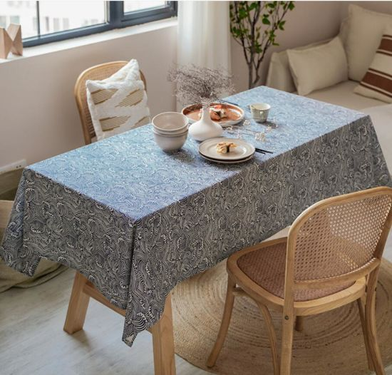 Printed Corrugated Waves Household Tea Tablecloth for Photography Background