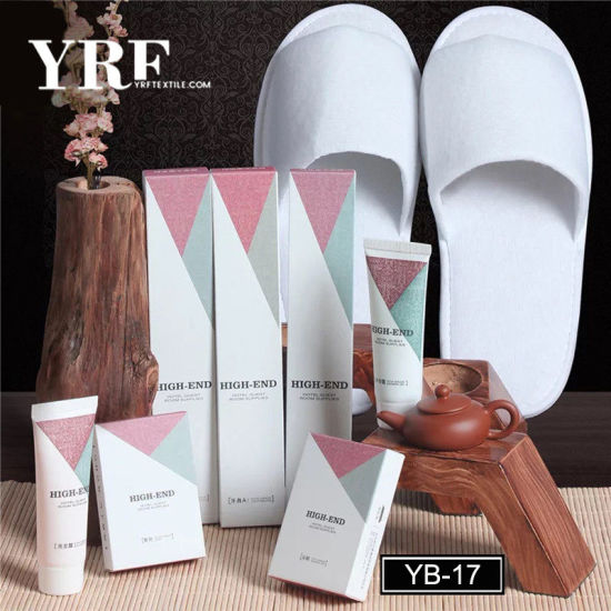 Yrf Personalized Customized Logo Luxury Guest Skin Care Hotel Slippers