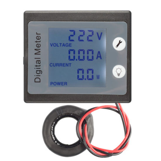 360 Degree LCD AC 0-100A Voltage Current Power Digital Single Phase Electronic Meter