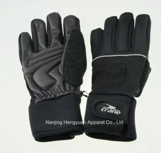 Adult Winter Warm Bike Glove Ski Glove (HY17110939)