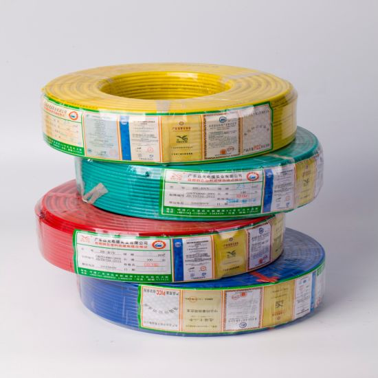 450/750V Solid Copper Conductor PVC Insulated Electrical Cable Wire
