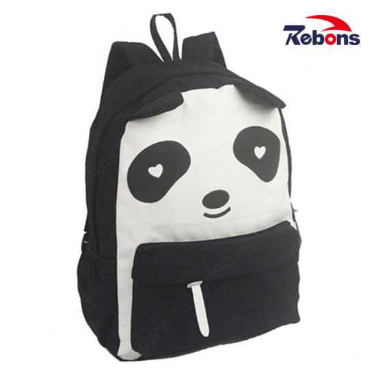 Canvas Cartoon Foldable Backpack with Printing