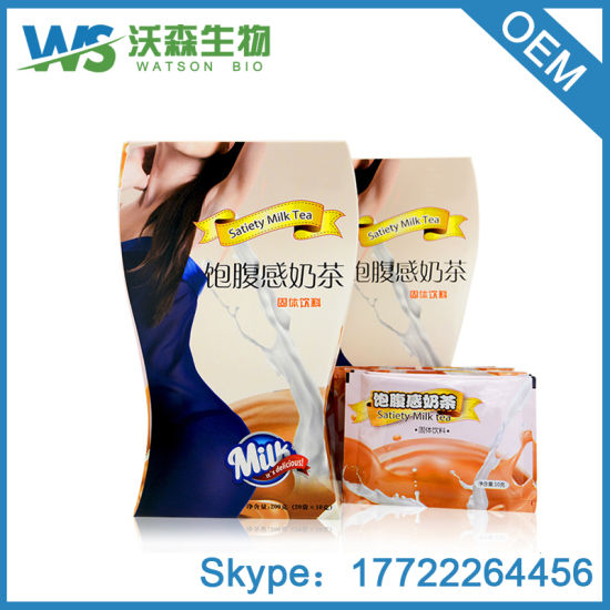 Satiety Milk Tea Shake Meal Replacement Diet Tea Powder For Weight Loss
