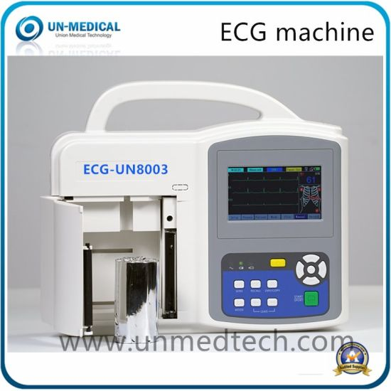 Portable Digital Three Channels ECG Electrode Machine with PC Software