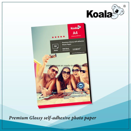 135GSM Sticker Glossy Inkjet Photo Paper pictures & photos