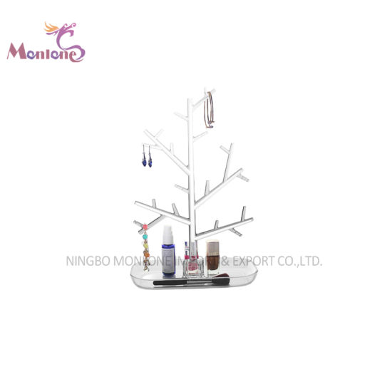 Home Decoration Earring Organizer Acrylic Tree Shape Jewelry Display Stand