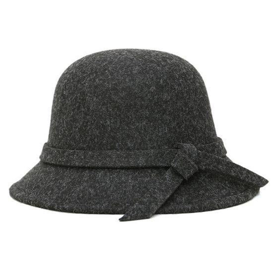 aff5711b8c8 Stylish Vintage Winter Female Warm Short Brim Wool Felt Cloche Hat Blank  Wholesale