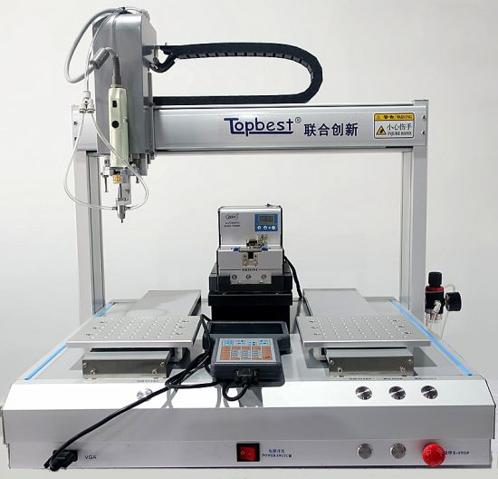 Desktop Adsorption Type 4-Axis Single Head Double Y Automatic Screw Locking Machine/Auto Screwdriver Machine/Auto Fastening Machine/Auto Tightening Machine