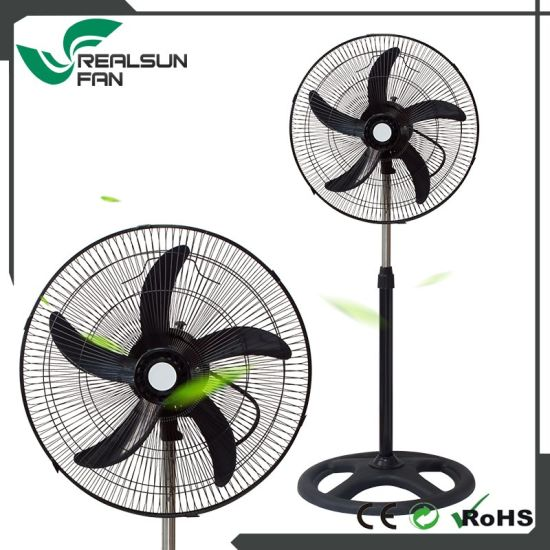 18'' Industrial Fan with Five ABS Blade-Full Black Color