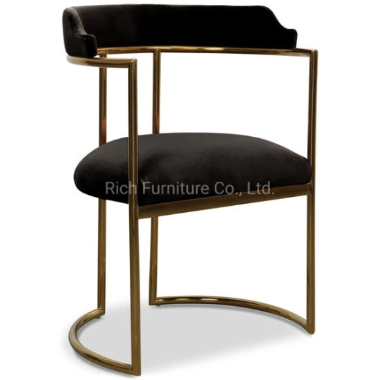 Brilliant Black Velvet Fabric Dining Chair Gold Frame Brass Metal Legs Tub Chair Caraccident5 Cool Chair Designs And Ideas Caraccident5Info