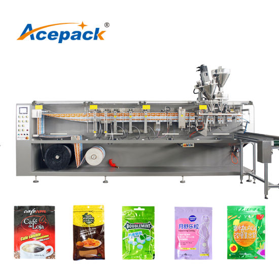Automatic Liquid Powder Small Zipper Sachet Filling Sealing Grain Solid Snack Food Raisin Sunflower Seeds Packing Machine with Different Filling Device