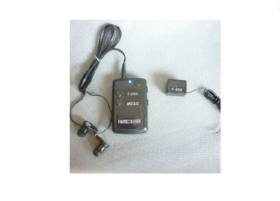 Wireless Transmitter Receiver Covert FM Audio Listening Device