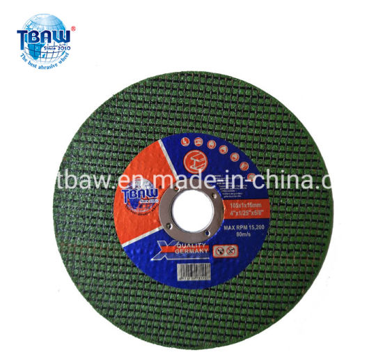 4inch Flat Cutting Wheel / Disc for Metal