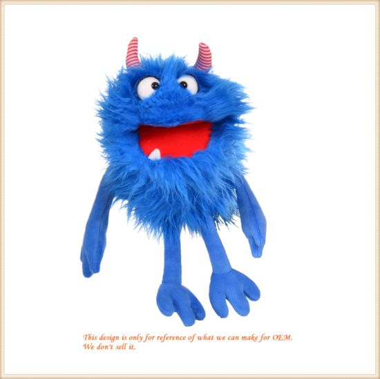 Plush Animal Toys Hand Puppet Stuffed Monster Doll - Blue pictures & photos