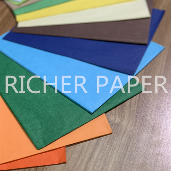 DARK GREEN QUALITY COLOURED TISSUE PAPER ACID FREE 750mm x 500mm PACK OF 3
