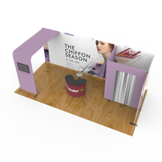 Design Aluminum Tube Trade Show Wall Tension Fabric Advertising Booth