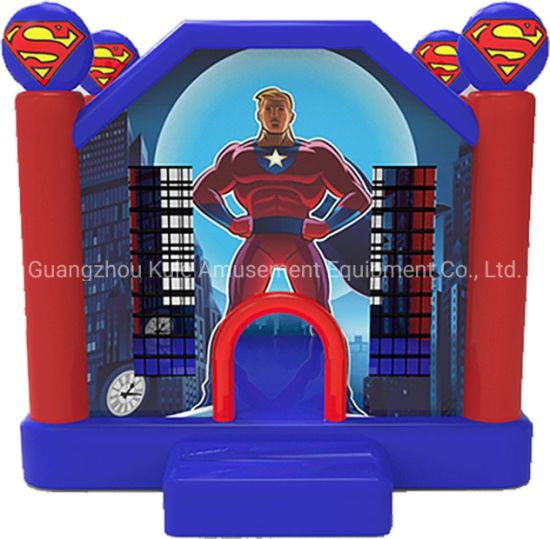 Superman Theme Bouncy Castle Inflatable Bounce House for Sale pictures & photos