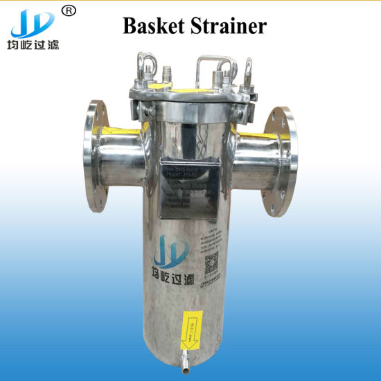 100 Micron Carbon Steel 304ss Diesel Waste Oil Cleanable Wire Flanged Piping Basket Filter Strainer