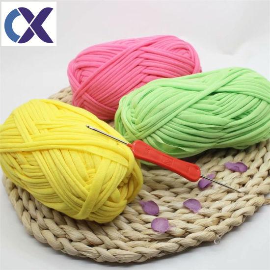 Fabric Yarn T-Shirt Crochet Spaghetti Yarn for Hand Knitting